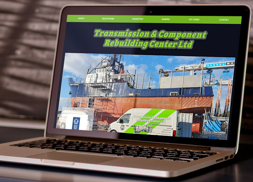 up and running the one page website for Transmission Rebuilding