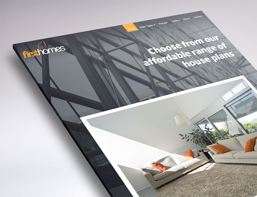 new web design for First Homes