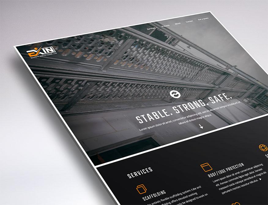 WordPress web design for Exin